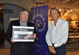 Stoomgemaal ontvangt mooie cheque van Rotary
